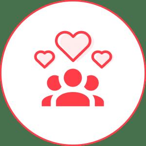 increased loyalty icon - behavior change